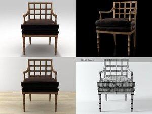 3D geometric armchair model