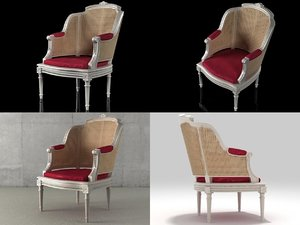 3D french 19th c chaise