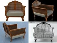 english edwardian armchair n 3D model