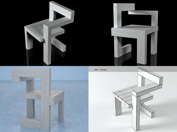 steltman chair 3D model