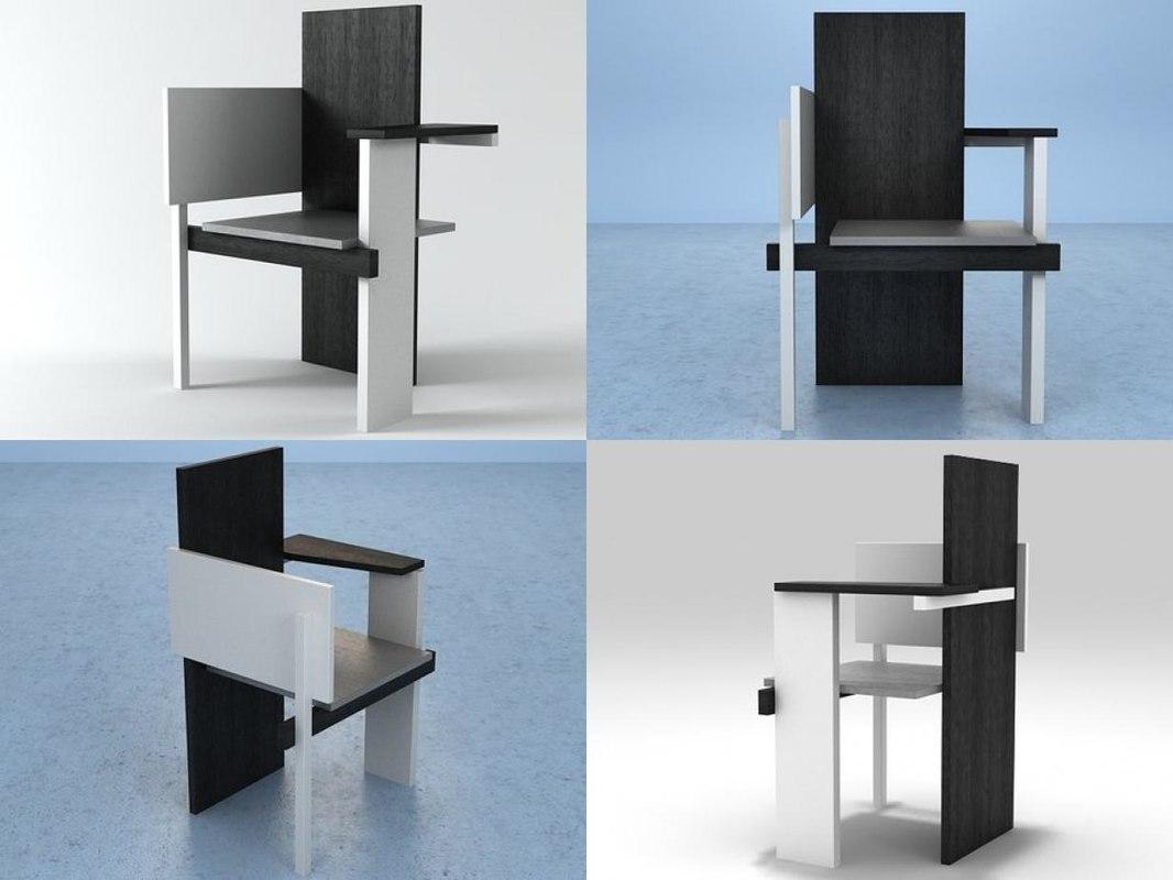 berlin chair 3D model