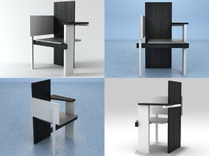 berlin chair 3D model