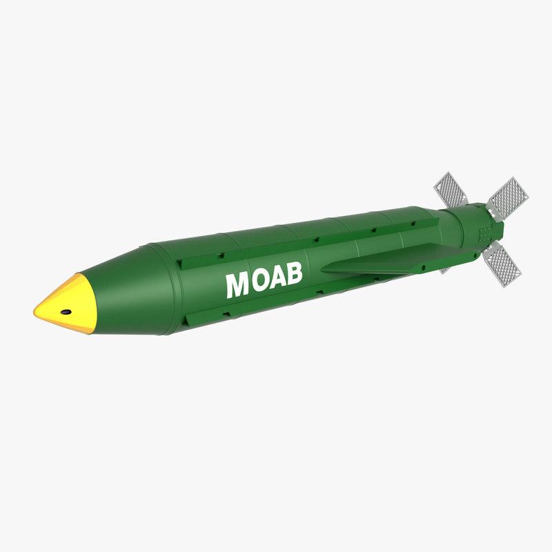 gbu-43 b moab bombs 3D