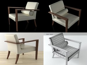 3D french line armchair