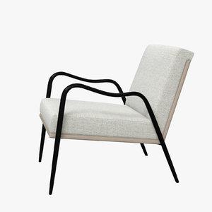 3D model armora lounge chair