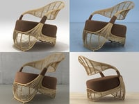3D manolo easychair model