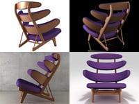 3D model pyramide chair d