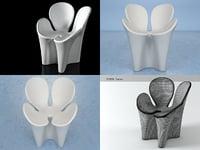 3D clover driade model