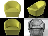 3D pluriel small armchair