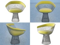 platner armchair 3D model