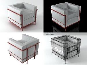lc2 armchair 3D model