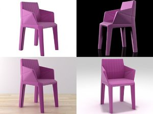 facett dining armchair 3D model