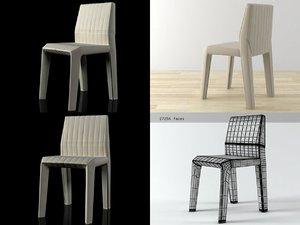 facett chair 3D