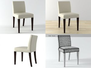 french line chair 3D model
