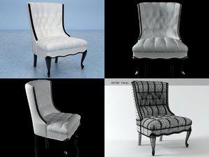 tufled chair 3D model
