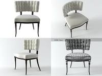 3D hollywood klismos chair