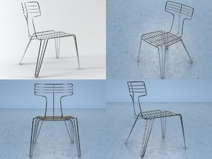3D model wire chair