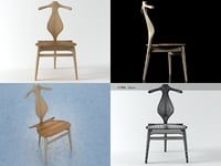 3D pp250 valet chair