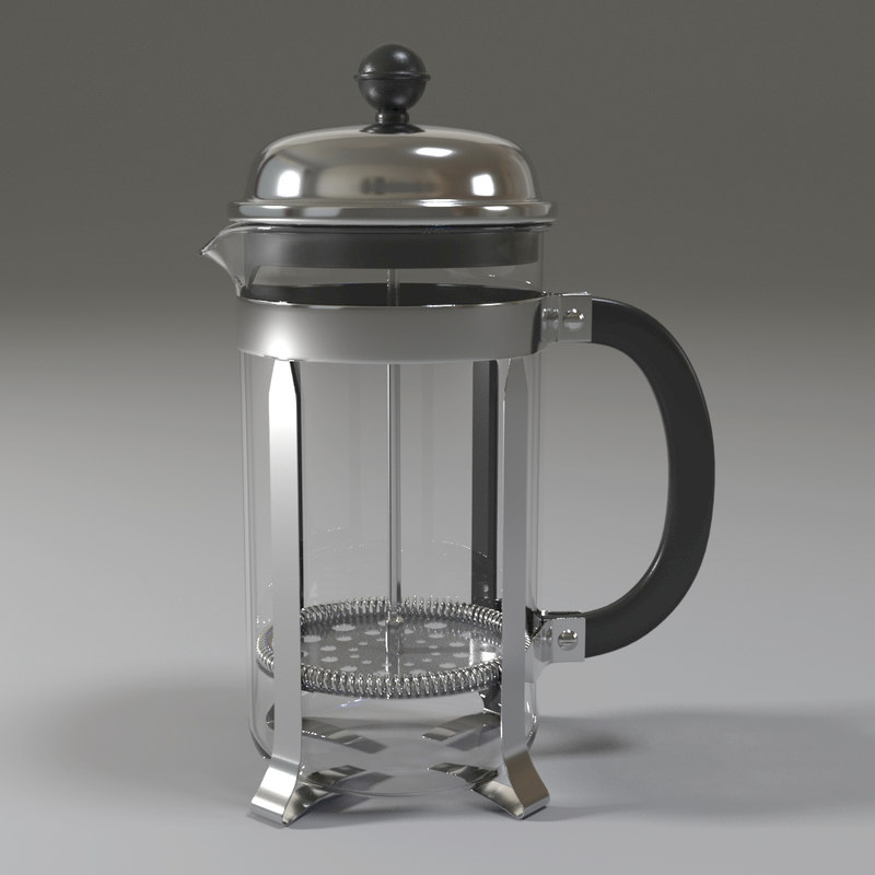 3D bodum french press model