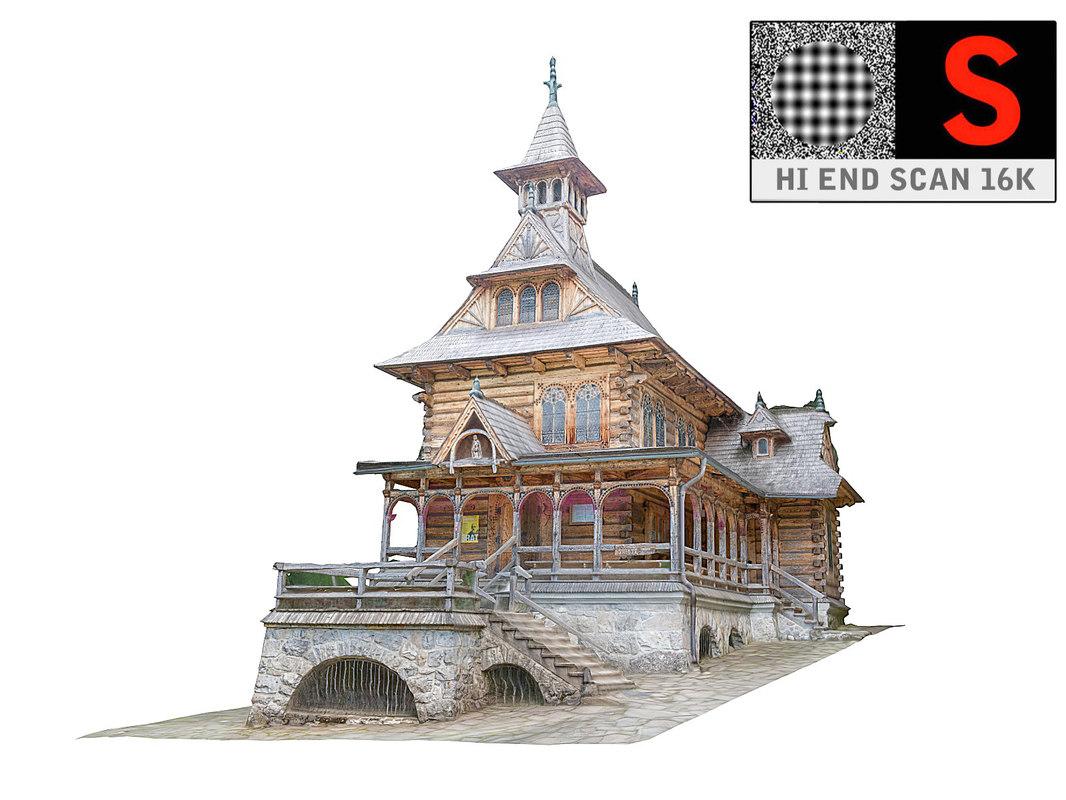 church mountains 3D model