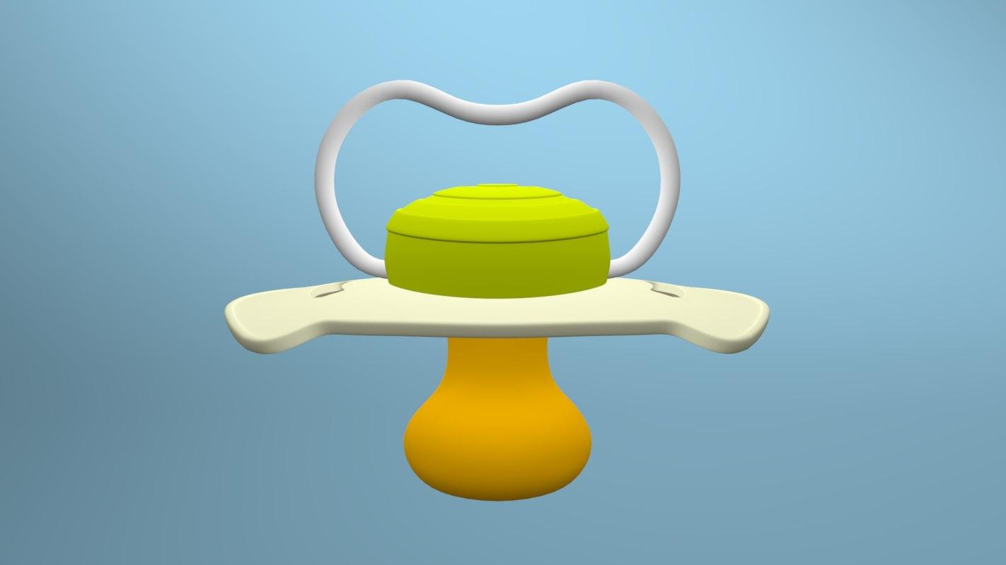 3D baby teat model