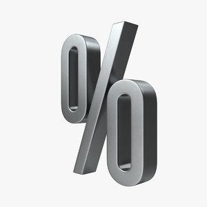 percent sign 3D