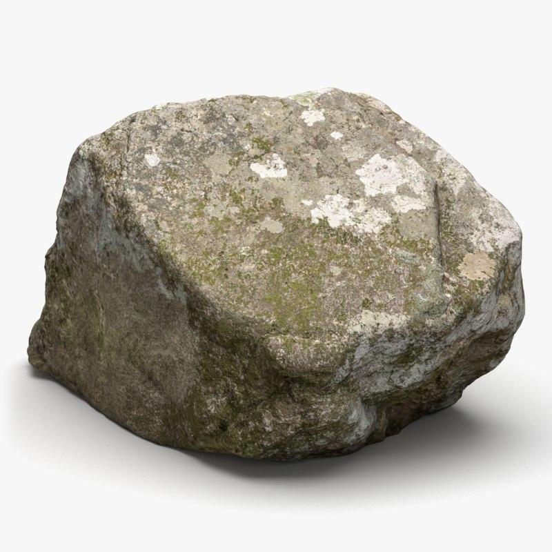 realistic maine rock 3D model