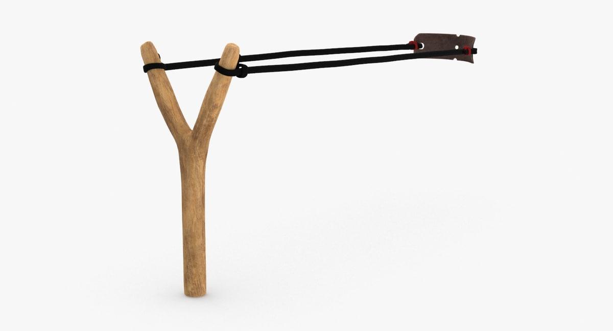 sling-shot---pulled-back 3D