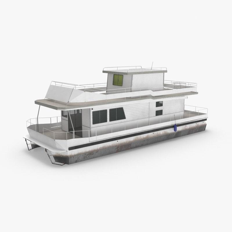 houseboat 3D model