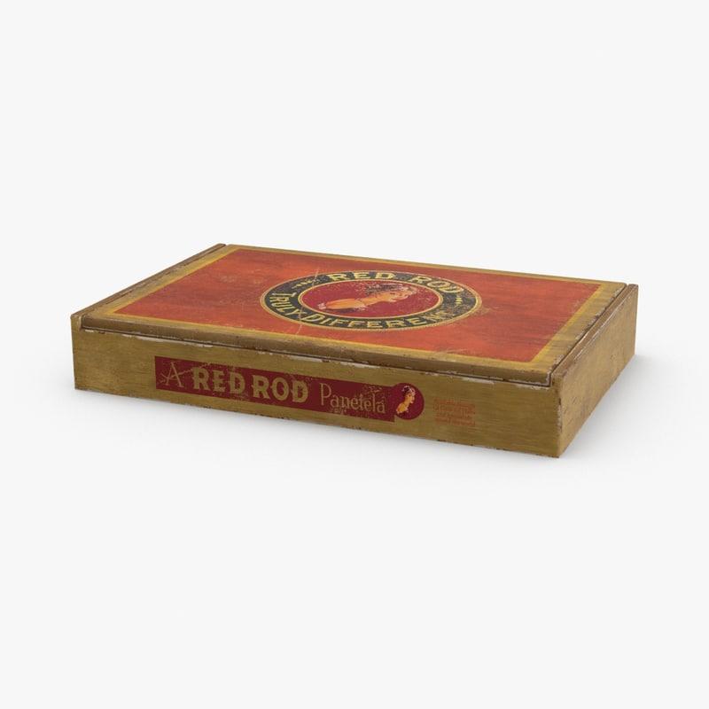 3D cigar-box---branded-closed model