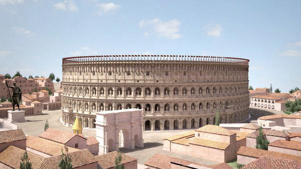 colloseum roman 3D model