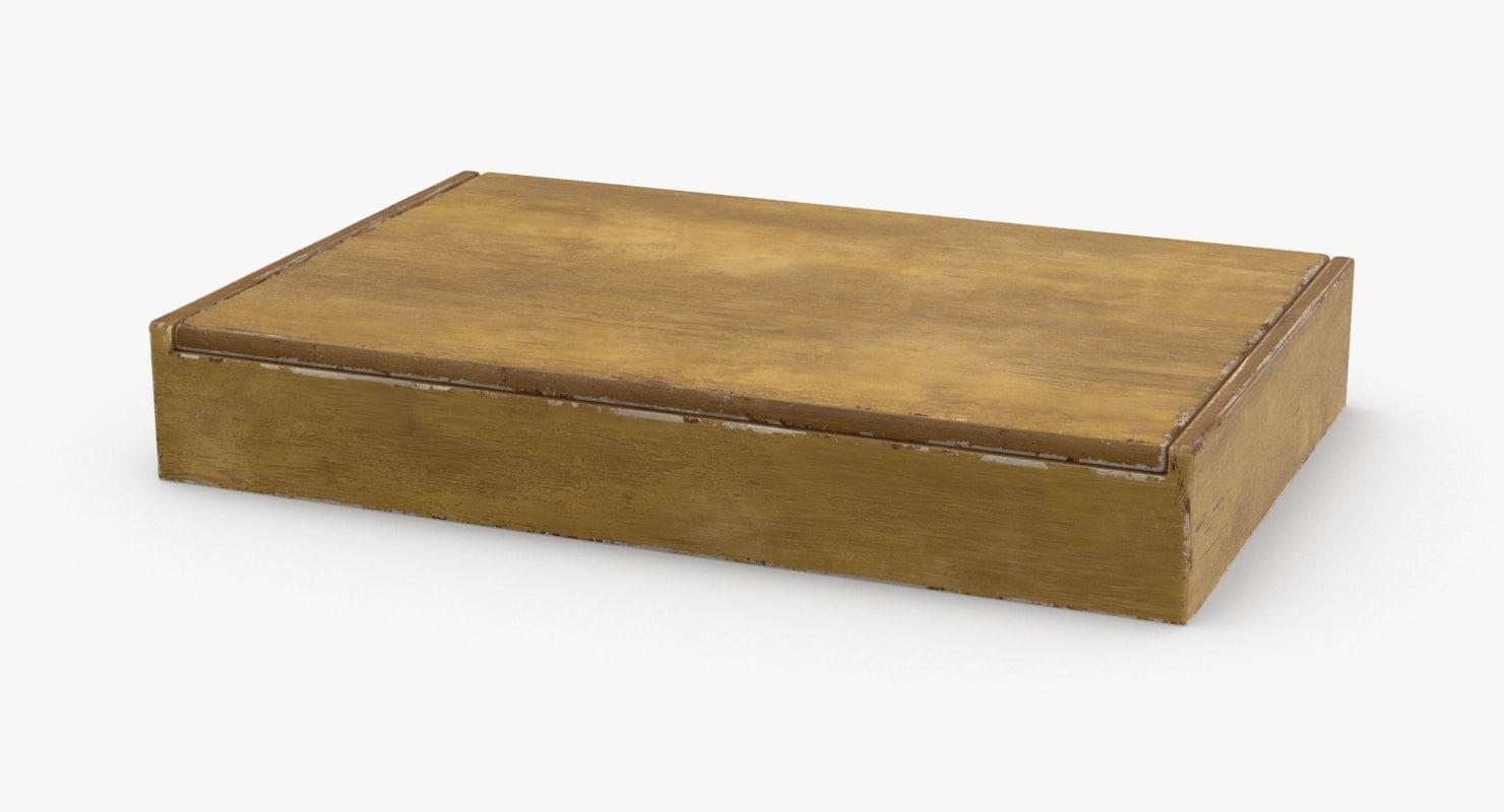cuban-cigar-box---generic-closed 3D