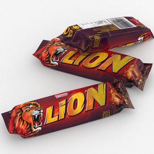 nestle lion bar 3D model