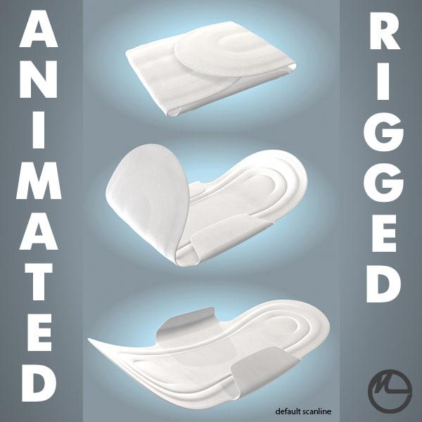 sanitary napkin 3D model