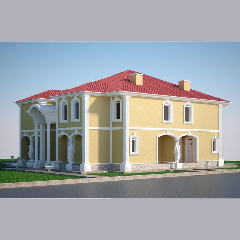 3D model luxury villa