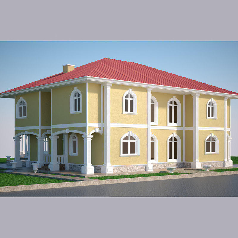 3D luxury villa model