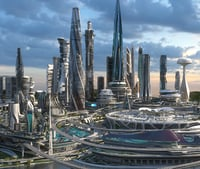 Central business district. Future city. Part 1