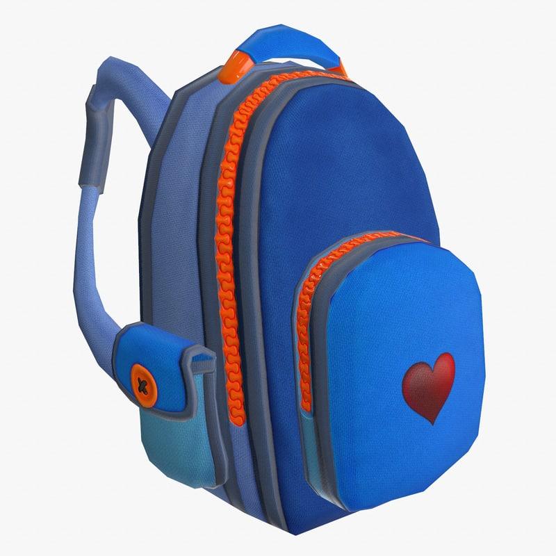 backpack cartoon games 3D
