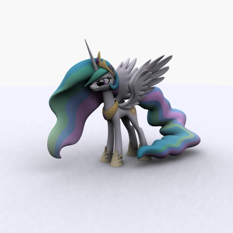 princess celestia pony little 3D model