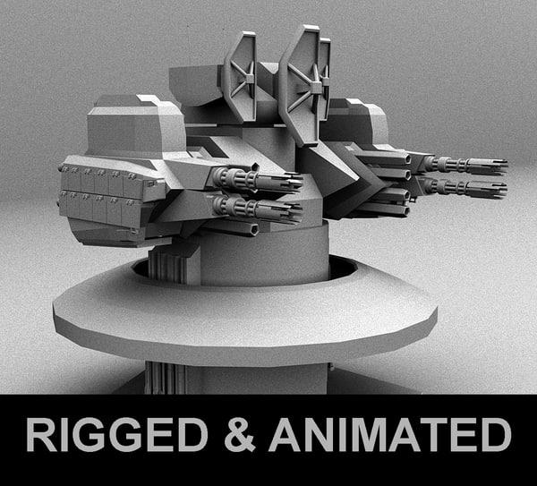 3D weapon ciws turret