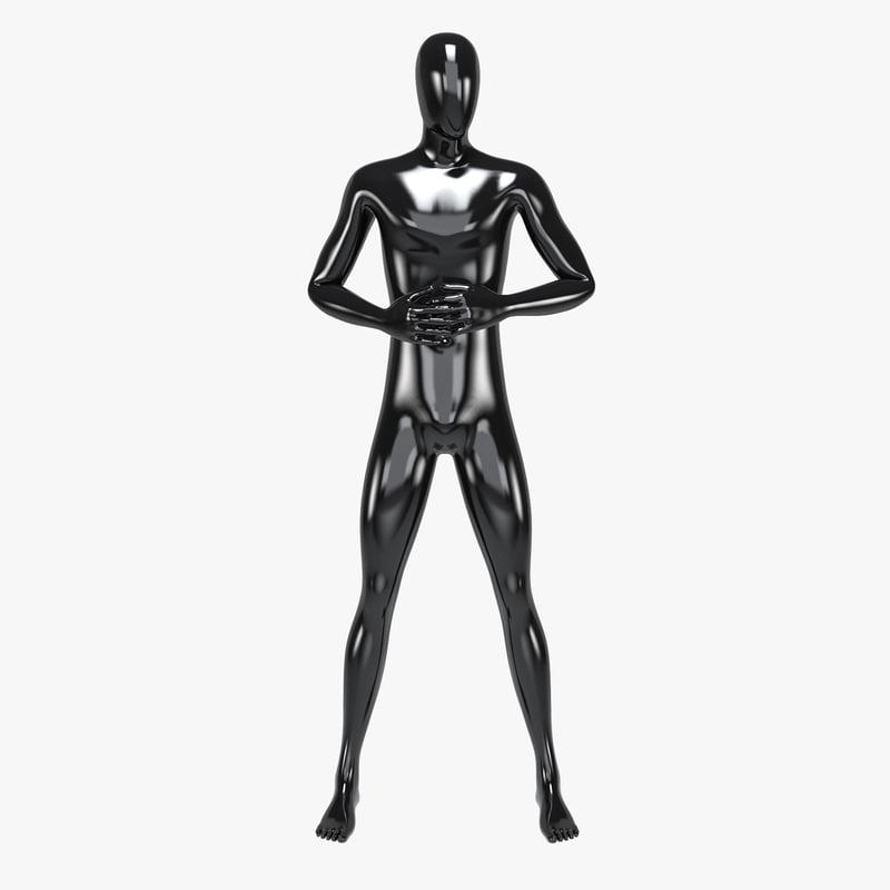 3D model male mannequin