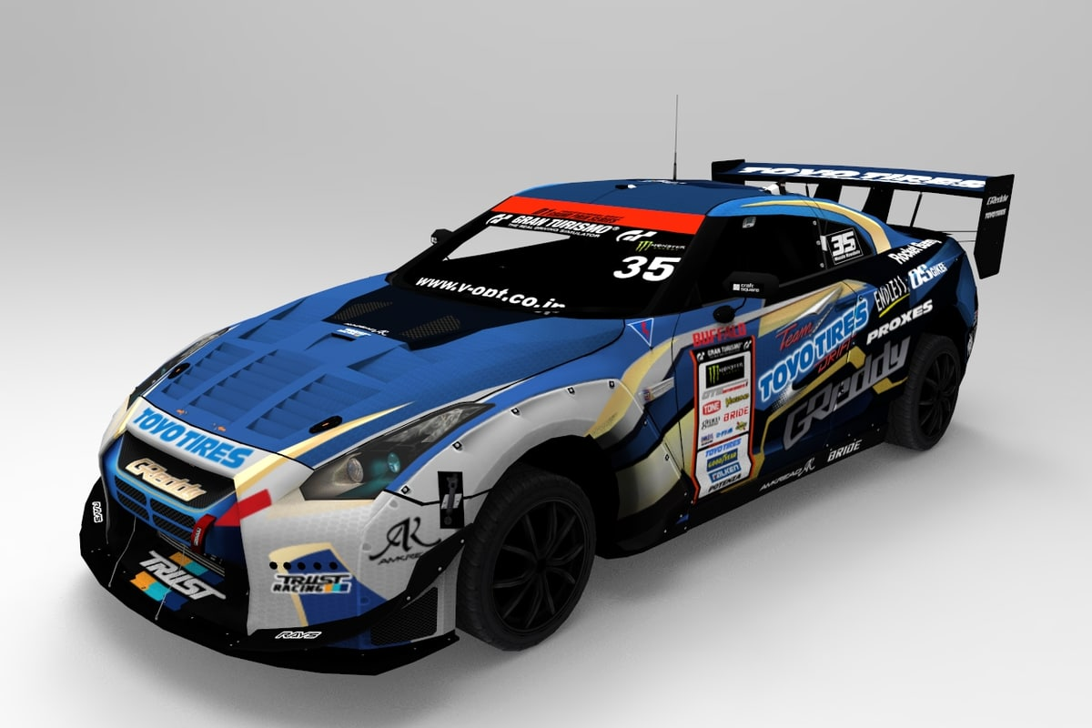 car d1 racing number 3D model
