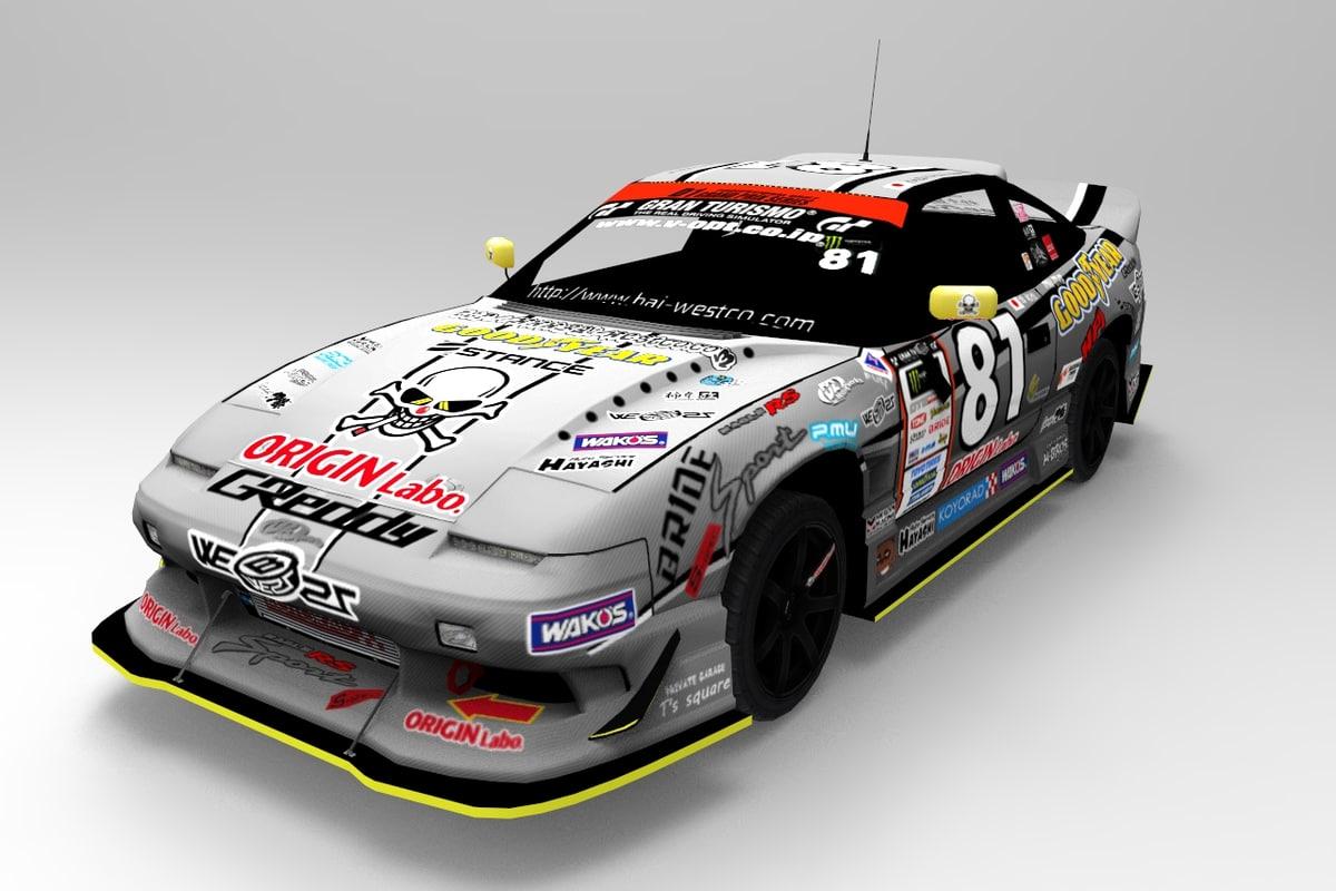 3D car racing d1 number