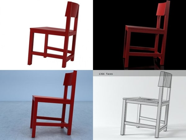 avl shaker chair 3D