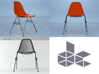 3D eames shell chair model