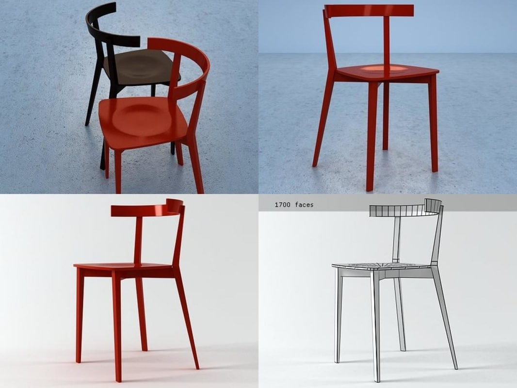 3D coco chair model