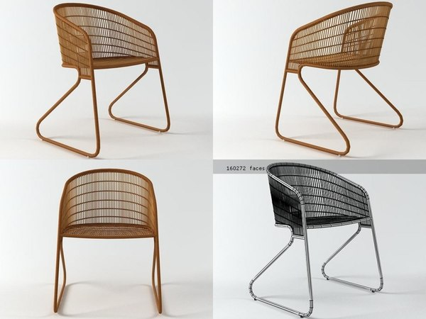 flo easy chair 3D
