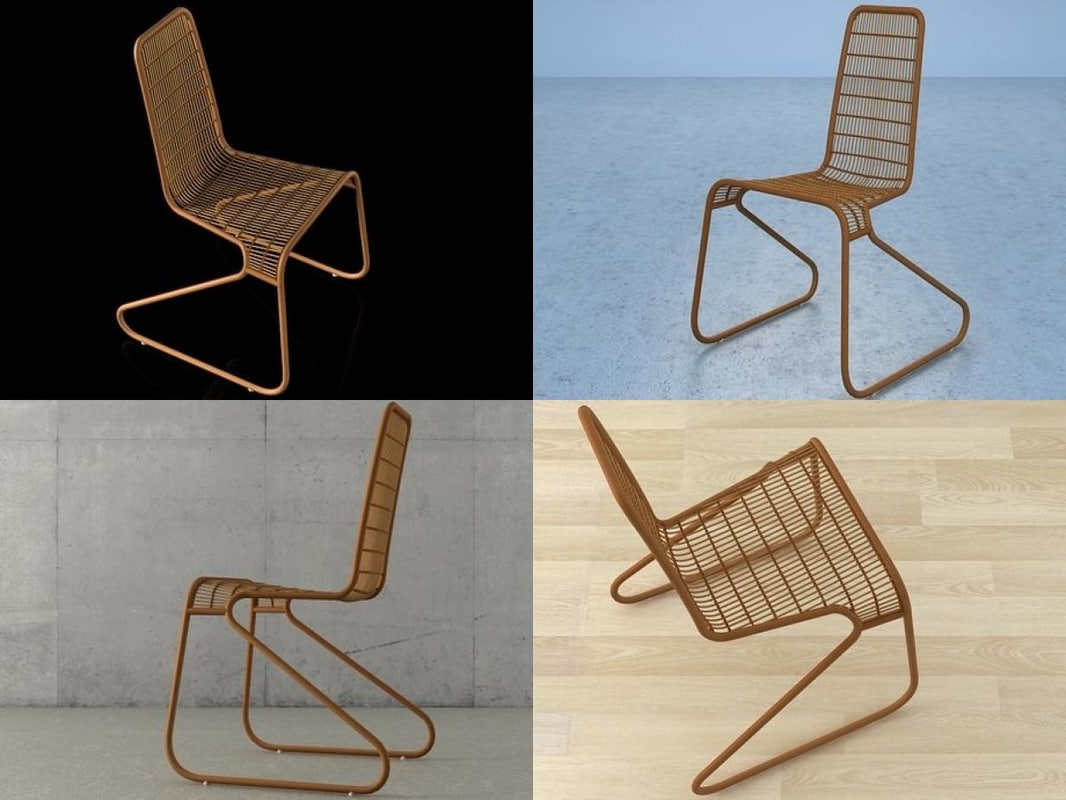 flo chair 3D model