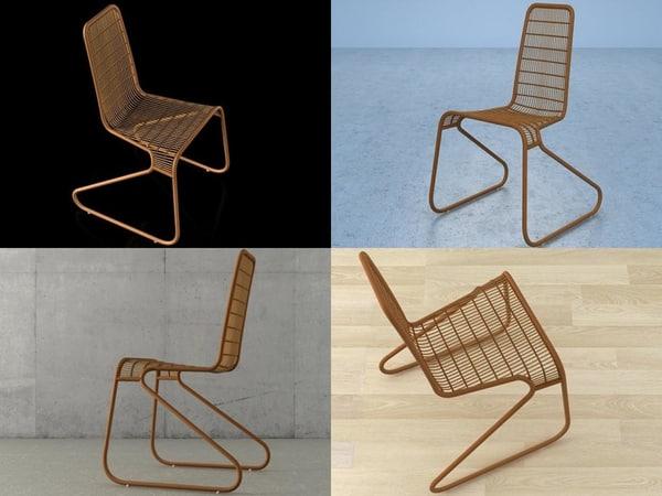 flo chair 3D model
