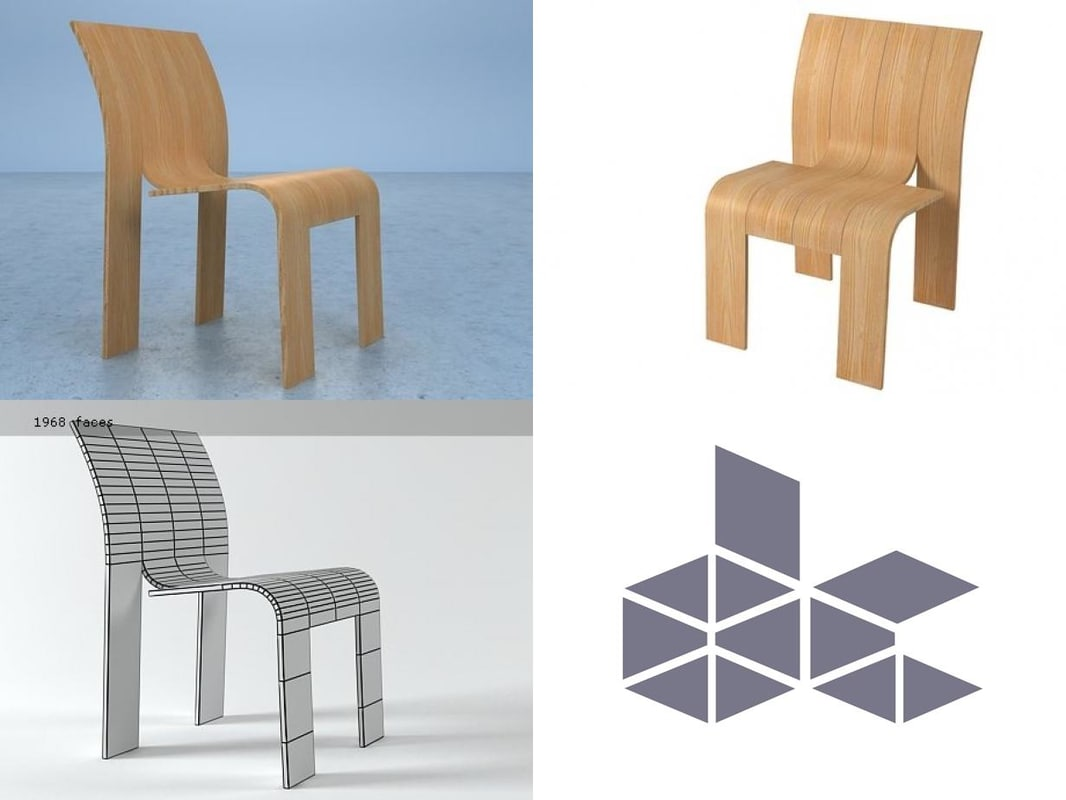 strip chair 3D